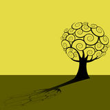 Abstract silhouetted tree Stock Photo