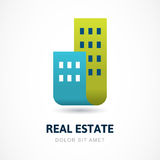 Abstract silhouettes of buildings. Design concept for real estat Stock Image