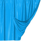 Abstract silk in the wind. Abstract blue background, image isolated stock illustration