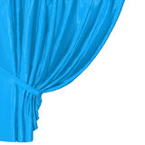 Abstract silk in the wind. Abstract blue background, image isolated vector illustration