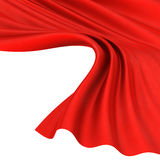 Abstract silk in the wind. Abstract red background, image isolated stock illustration