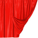 Abstract silk in the wind. Abstract red background, image isolated vector illustration