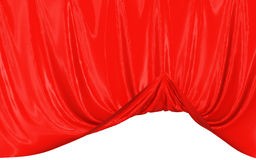 Abstract silk in the wind. Abstract red background, image isolated royalty free illustration