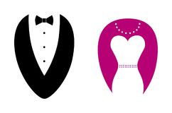 Abstract sillhouete symbols of man and woman Royalty Free Stock Photos