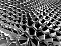 Abstract Silver Alluminium Metallic Shiny Background. 3d Render Illustration Stock Photos