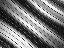 Abstract silver aluminium curve stripe background Royalty Free Stock Image