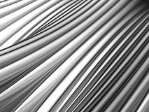 Abstract silver aluminium stripe background Stock Photography
