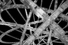 Abstract silver background. Silver cubic cog wheel available for background Stock Photo