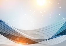 Abstract silver background with bright elements Stock Photography