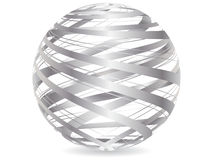 Abstract silver ball Stock Photography