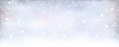 Abstract silver blue winter, Christmas banner with snowfall Royalty Free Stock Photos