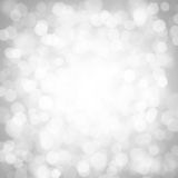 Abstract silver bokeh lights Royalty Free Stock Photo