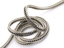 Abstract silver chain Stock Photos