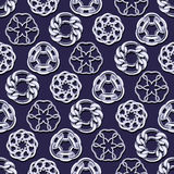 Abstract silver chains circles seamless background. Luxury jewelry pattern vector illustration vector illustration