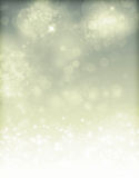 Abstract silver Christmas background with white snowflakes Stock Photography