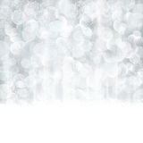 Abstract silver Christmas, winter background with blurred lights Royalty Free Stock Image
