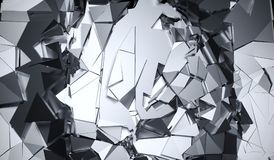 Abstract Silver Cracked Surface. 3D Rendering Of Abstract Silver Cracked Surface Background royalty free illustration