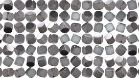 Abstract silver cube geometric surface. stock footage