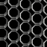Abstract silver 3D hexagon seamless pattern Royalty Free Stock Photos