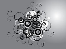 Abstract silver design. stock illustration