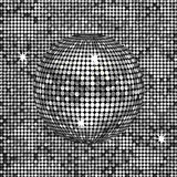 Abstract silver disco ball Stock Photography