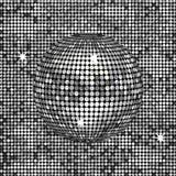 Abstract silver disco ball Stock Photography