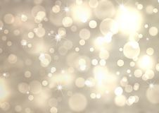 Silver festive bokeh background. Abstract silver festive background with bokeh effect Stock Photos