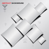 Abstract silver Geometrical vector background Stock Photos