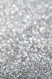 Abstract silver glitter holiday background Stock Image