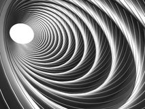 Abstract silver illusion of tunnel effect abstract Stock Photography