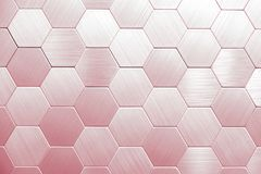 Abstract silver metal background. Geometric hexagons. royalty free illustration