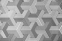 Abstract silver metal background. Geometric hexagons. Different color. royalty free stock photography