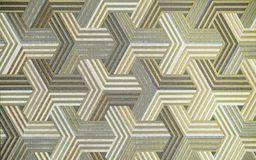3D. Abstract silver metal background. Geometric hexagons. Different color. royalty free stock photo