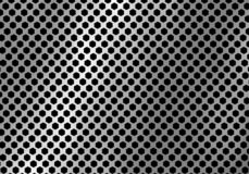 Abstract silver metal background made from hexagon pattern texture. Geometic black and white. Vector illustration stock illustration