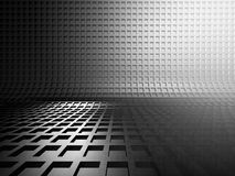 Abstract silver metal dark background. 3d render illustration Stock Images