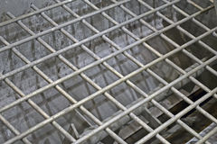 Abstract silver metal grid, industry details, Stock Images