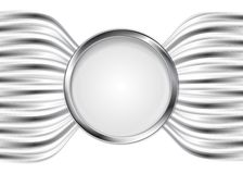 Abstract silver metal vector background Royalty Free Stock Photography