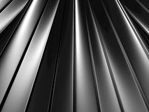 Abstract Silver Metallic Waved Surface Background Stock Photography