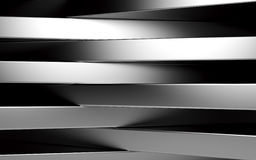 Abstract silver panels with copyspace for text. 3D render Stock Photography