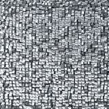 Abstract silver pixel background,  made of metallic cubes. Stock Image
