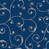 Abstract silver seamless vintage pattern. Stock Photo