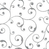 Abstract silver seamless vintage pattern. Royalty Free Stock Images