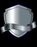 Abstract silver shield. Royalty Free Stock Image