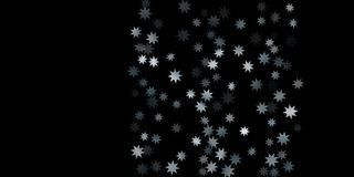 Abstract silver star of confetti. Falling starry background. Random stars shine on a black background. The dark sky with shining stars.  Suitable for your Stock Image