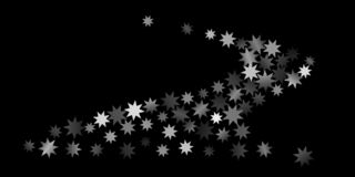 Abstract silver star of confetti. Falling starry background. Random stars shine on a black background. The dark sky with shining stars. Suitable for your royalty free illustration