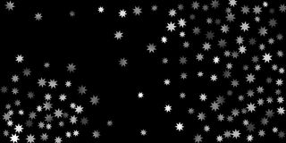 Abstract silver star of confetti. Falling starry background. Random stars shine on a black background. The dark sky with shining stars.  Suitable for your Royalty Free Stock Photos