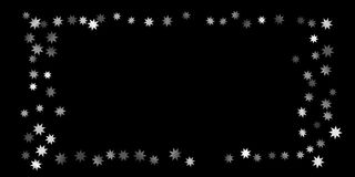 Abstract silver star of confetti. Falling starry background. Random stars shine on a black background. The dark sky with shining stars.  Suitable for your Royalty Free Stock Photo