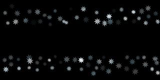 Abstract silver star of confetti. Falling starry background. Random stars shine on a black background. The dark sky with shining stars.  Suitable for your Royalty Free Stock Photography