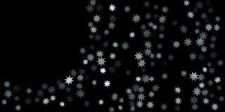 Abstract silver star of confetti. Falling starry background. Random stars shine on a black background. The dark sky with shining stars. Suitable for your stock illustration