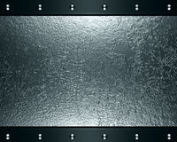 Abstract silver steel background Stock Photography